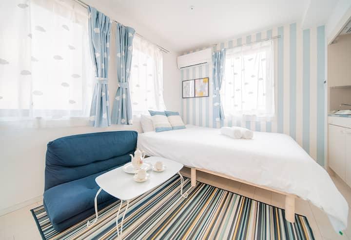 Sunny apartment near Nippori Sta. 5mins/big bed
