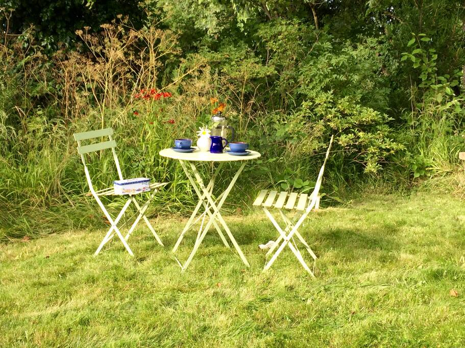 Tea for two in the garden