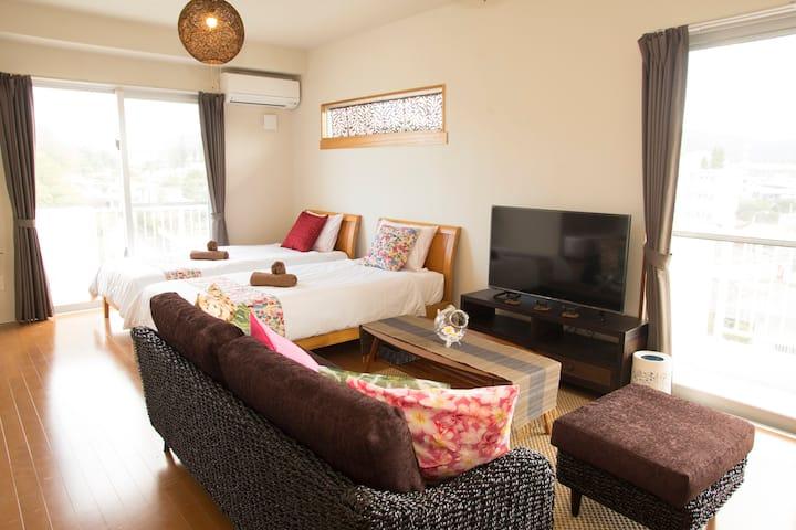 【2018年1月築】清潔感のある新しいハウスで快適なステイ☆北部観光の拠点として立地も便利!