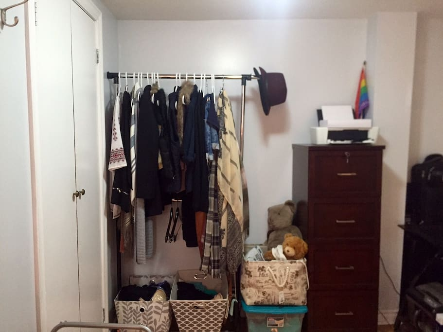 Space to work and store clothes