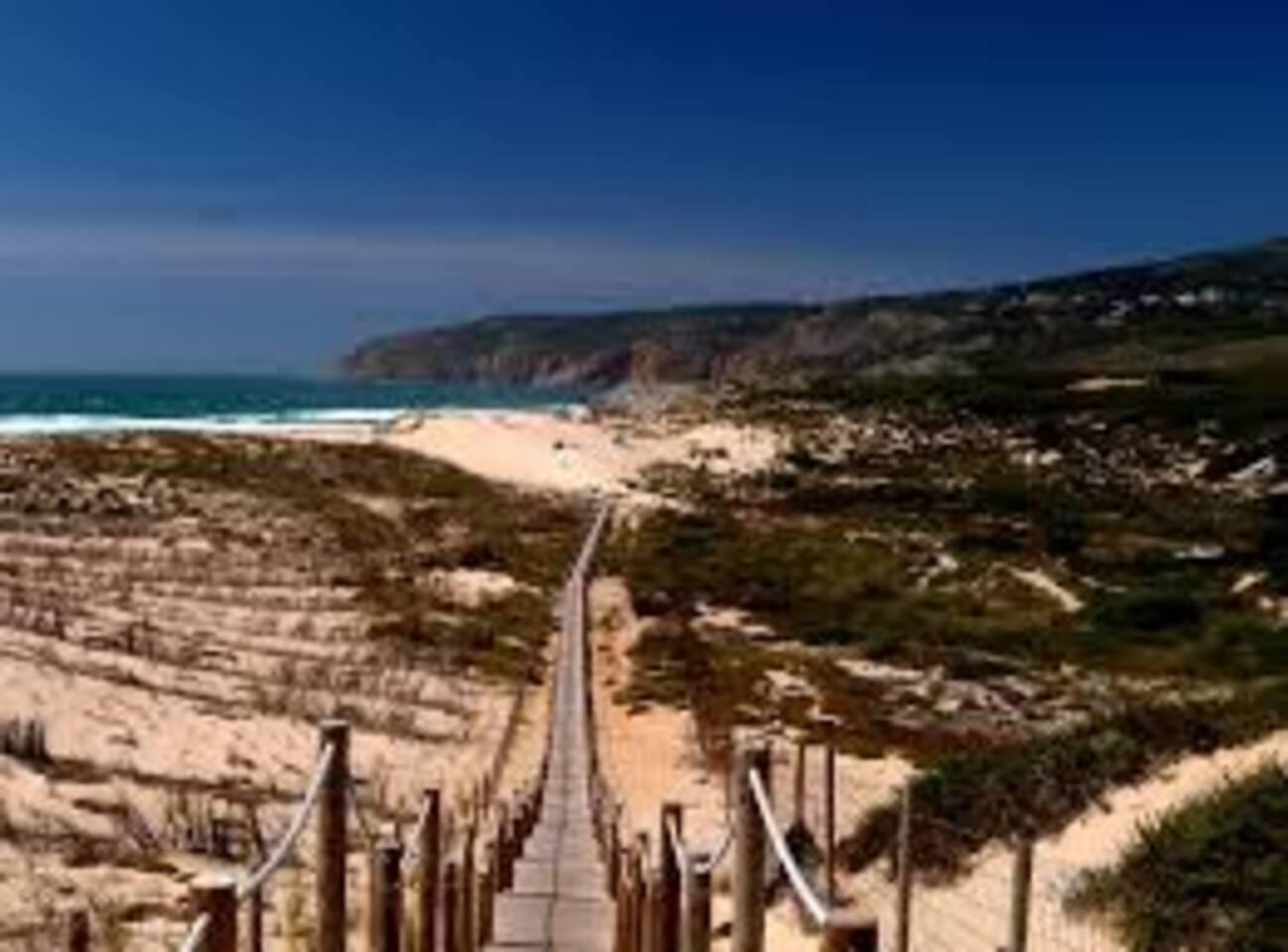 Guincho beach with cycle lane  7 km