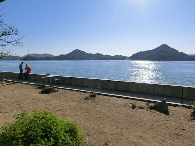 Private view of Seto inland sea from the garden.