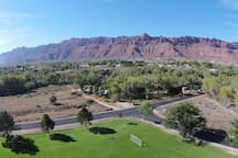 This is an aerial view of the Guest Parking area.