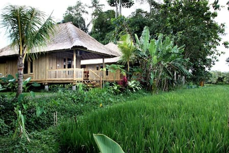 Unique Bamboo House with rice view - Marga