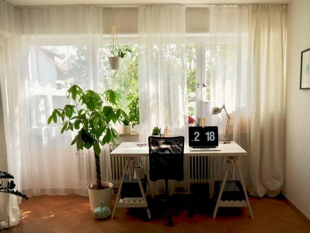 Ruhiges, geräumiges Zimmer für zwei in super Lage