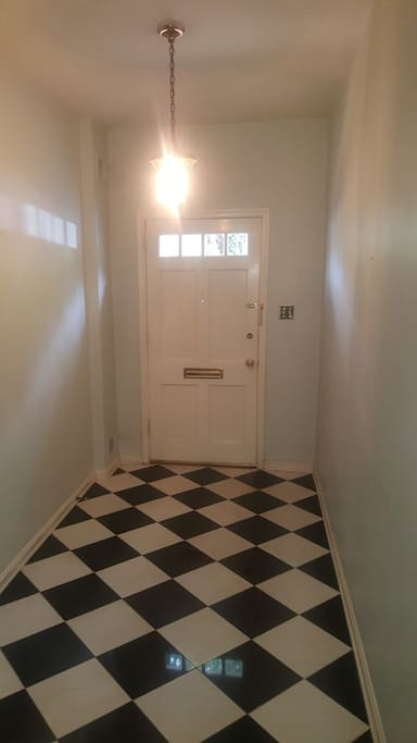 Welcome home. A retro entrance to the beautiful townhome on Capital Hill.