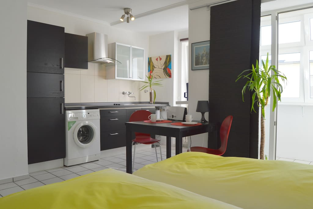 calm city apartment partially serviced apartments for rent in dusseldorf north rhine. Black Bedroom Furniture Sets. Home Design Ideas