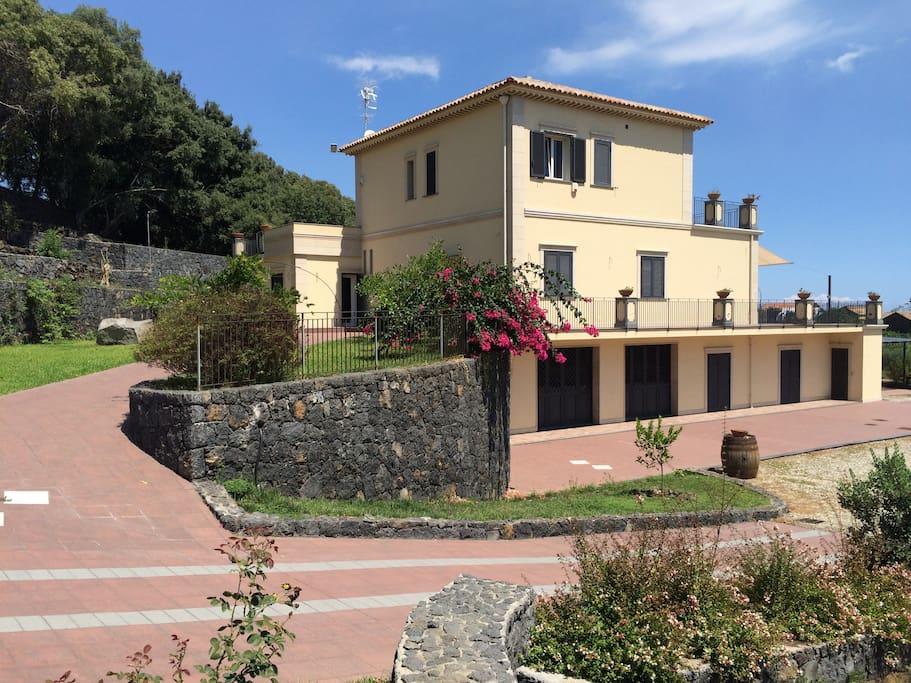 Vista lato Sud della casa