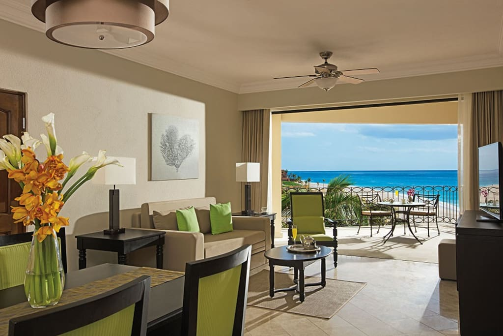 All suites have water views.