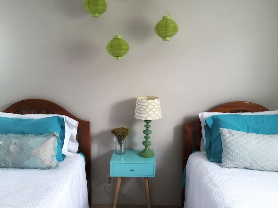comfortable, charming decor makes this room feel warm and inviting