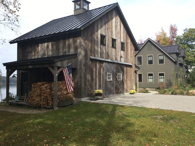 Front of house with barn