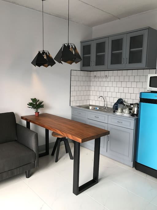 Pantry area with islands table