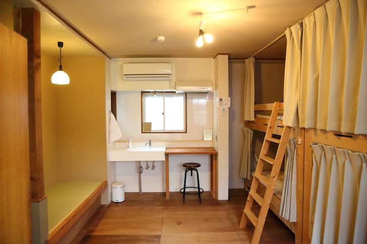 4-bed private room A (shared toilet and shower)