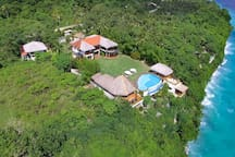 Your own exclusive paradise getaway perched on a cliff and all yours.