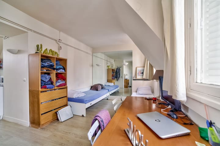 Studio for 2 in Paris ** PORTE DAUPHINE **