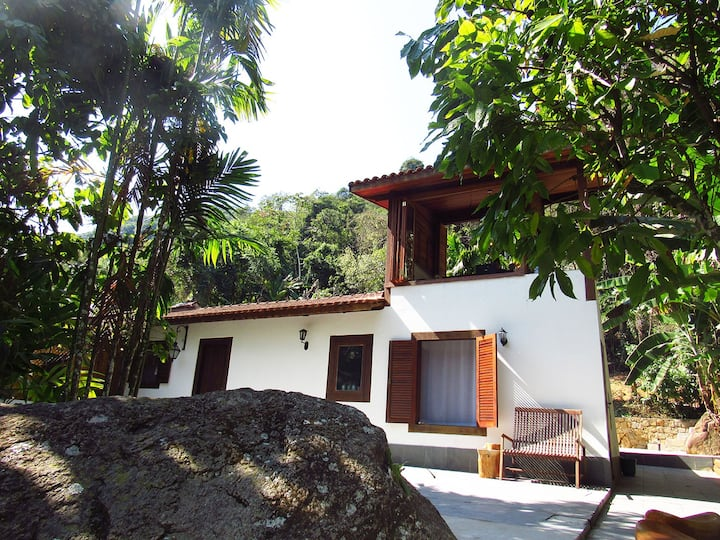Family house with bamboo in Picinguaba