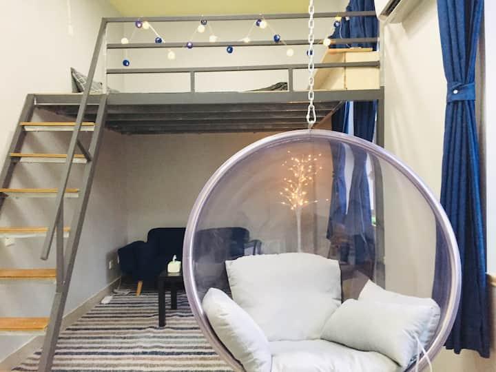 Loft温馨复式公寓,紧临东关街、文昌阁,靠近个圆、何园。