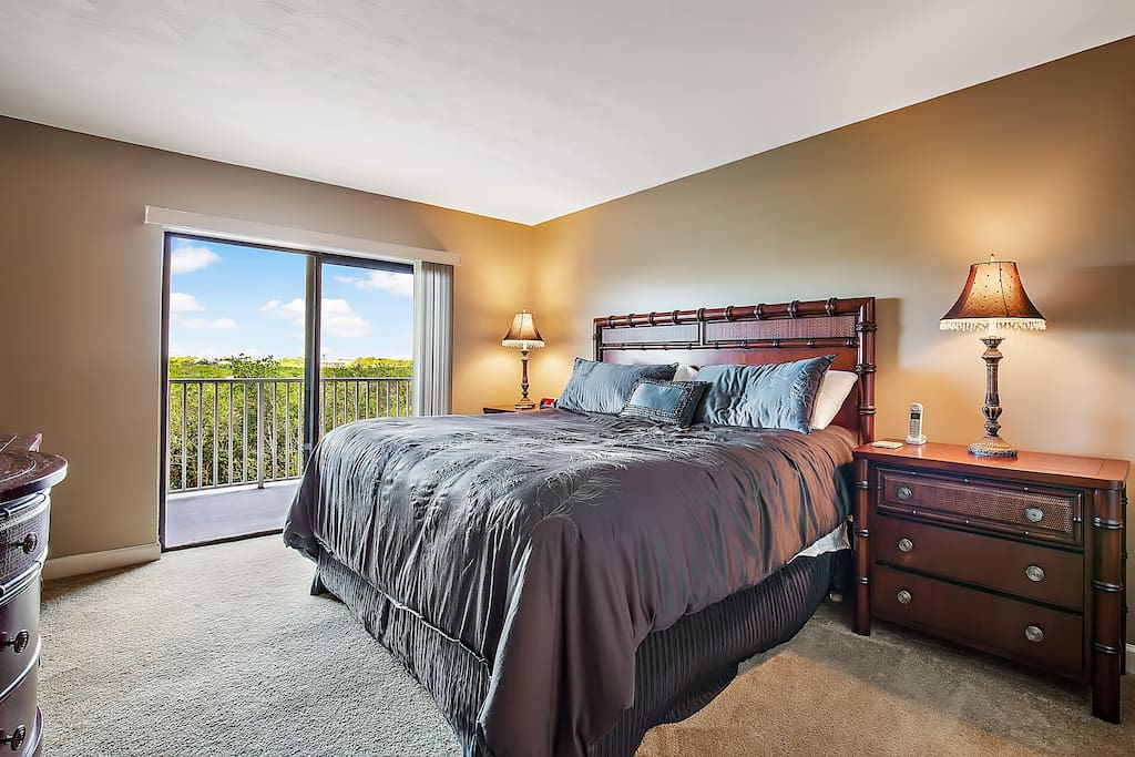 Master bedroom with views of the waterway