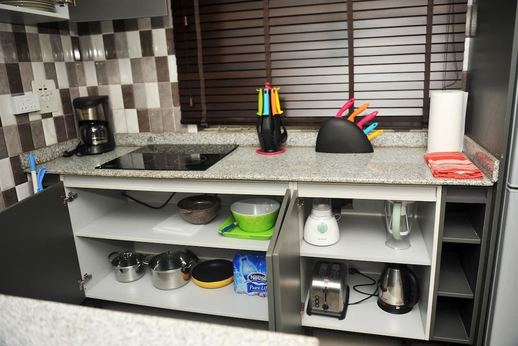 Full service kitchen with all utensils that you might need and much more...