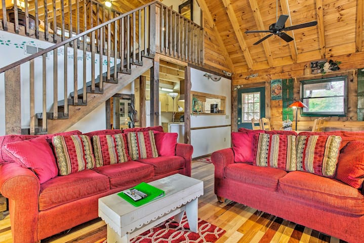 The 'Hunters Lodge' has vaulted knotty-pine ceilings and plenty of charm.