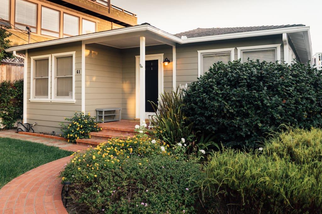 Classic California beach cottage