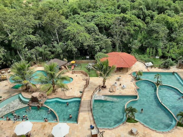 Resort Thermas do Bosque, Apt 2Q p/ até 7 pessoas!
