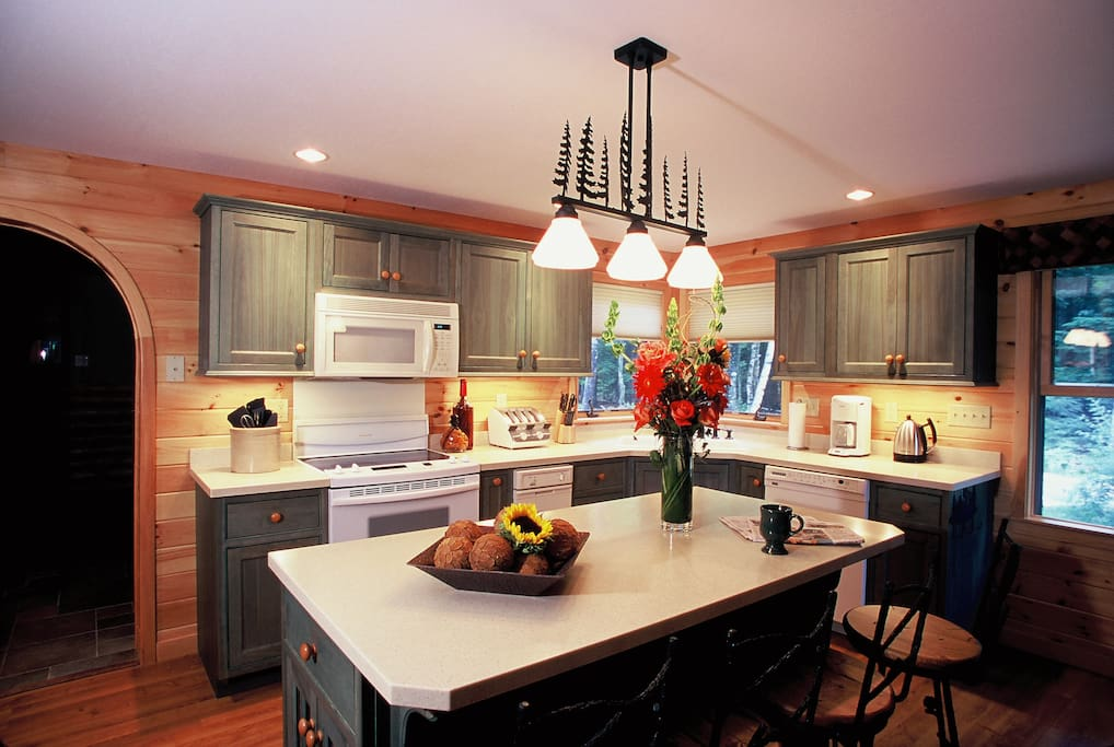 Prepare your favorite recipes in the gorgeous, fully equipped kitchen.
