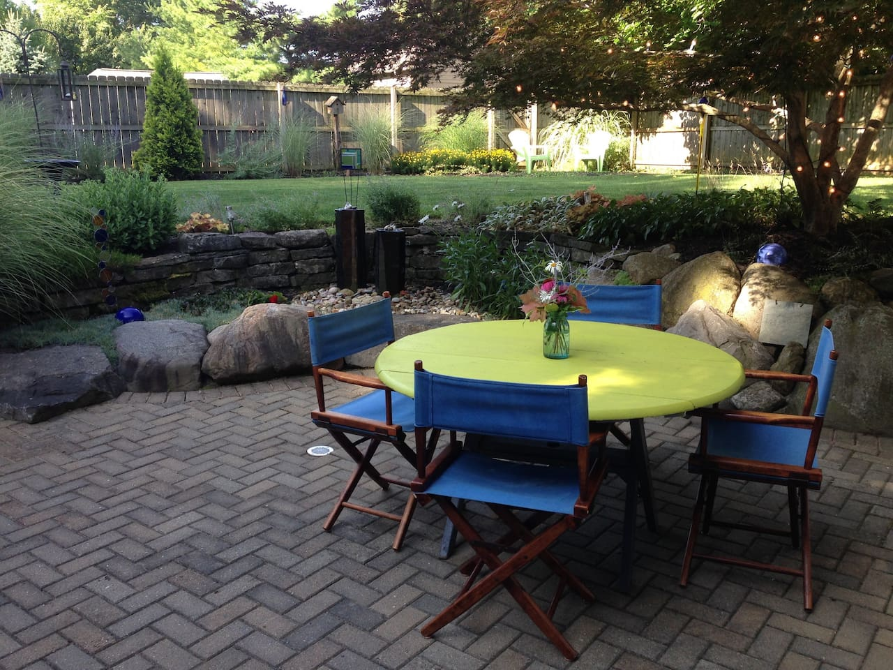 The peaceful private backyard is perfect for morning coffee, meditating or catching up on emails.