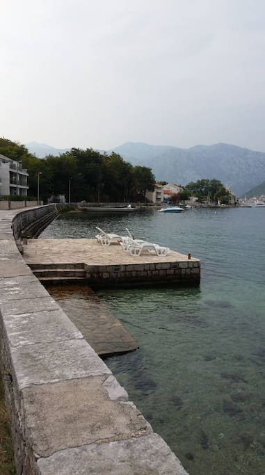 Jetty in front of house