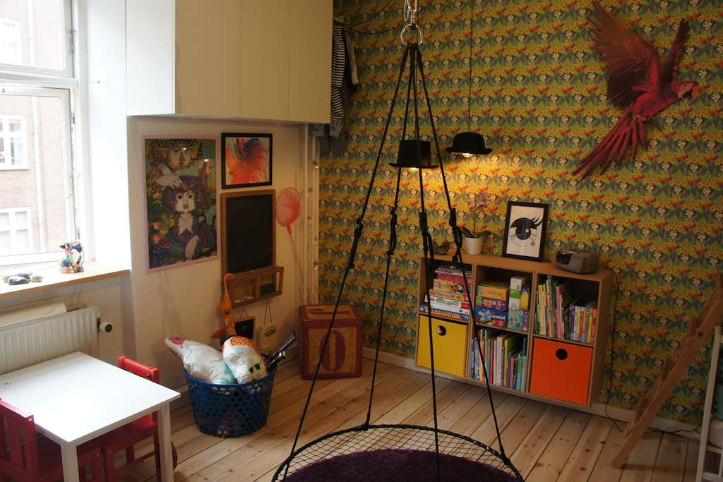 Creative corner in the childrens room.