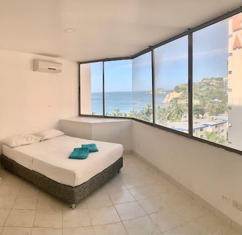 El Rodadero, apartamento a 20 metros de la Playa.