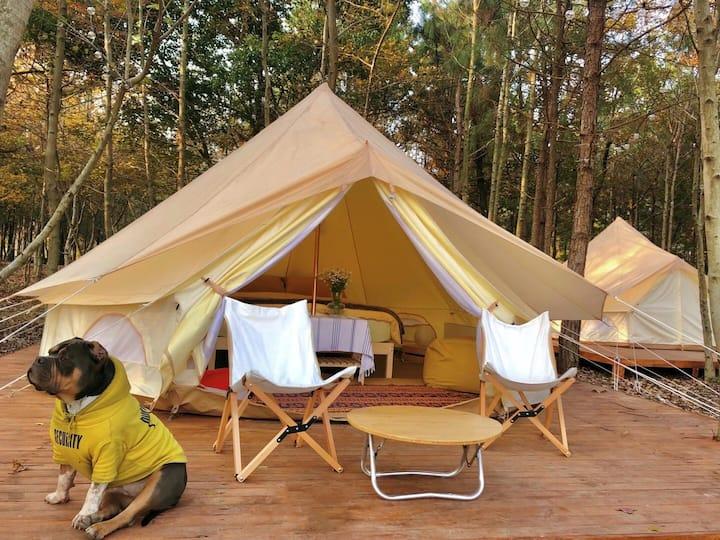 宿林里户外帐篷营地2号帐(大床)