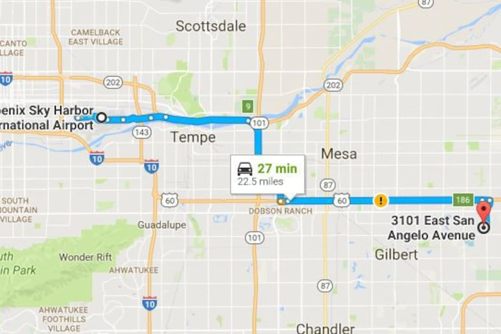 How to get to the Casita...from the airport