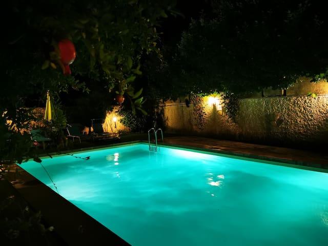 Appt T3 75m2 dans villa piscine+ jardin 1000m2