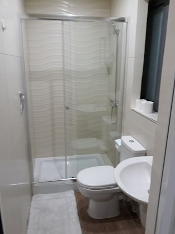 Private shower room in each room
