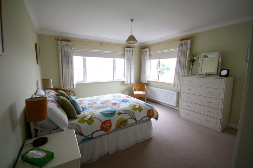 Bright, spacious and airy bedroom with spectacular views over Dublin Bay