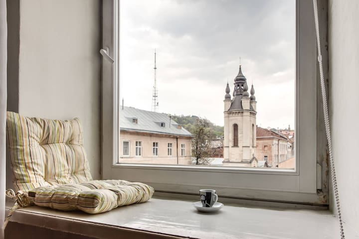 RomanticApartaments in the house with fresco - Lwów - Apartament