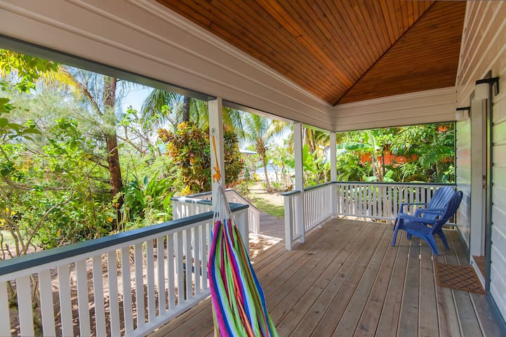 Bungalow- Front Porch with beach views