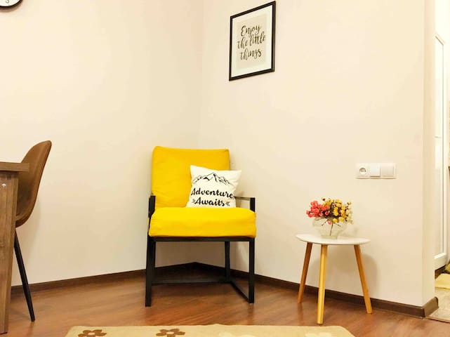 New sunny studio apartment In the heart of Tbilisi