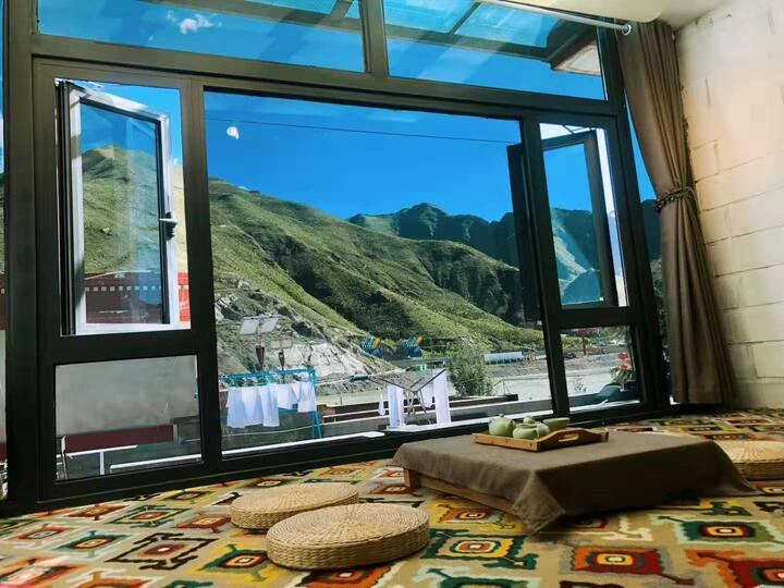 【观星·拉萨河畔玻璃顶星空大床房·供氧供暖】—逸乡民宿