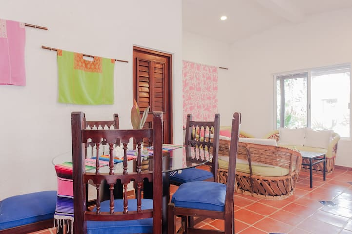 2 bedroom casita dining and sitting area