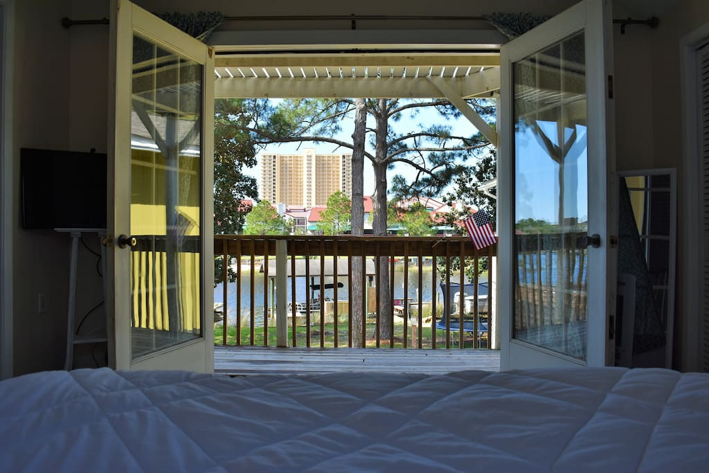View of Grand Lagoon from your bed