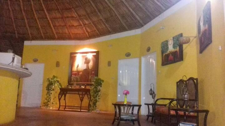 Hotel san sebastian en tenabo, campeche, mexico.