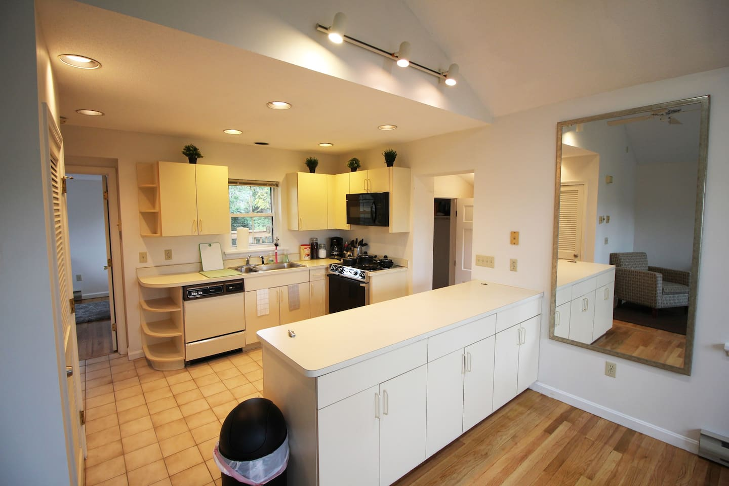 This is the kitchen in the apartment.
