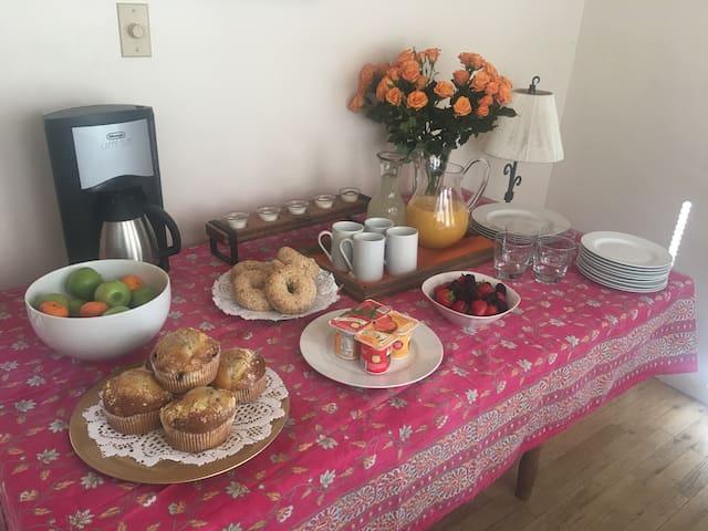 Historic Plaza Area Home with Free Breakfast