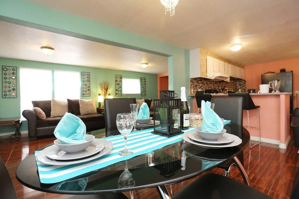 Dining table to enjoy light meals