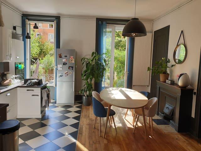 Appartement Lyonnais + jardin, calme dans la ville