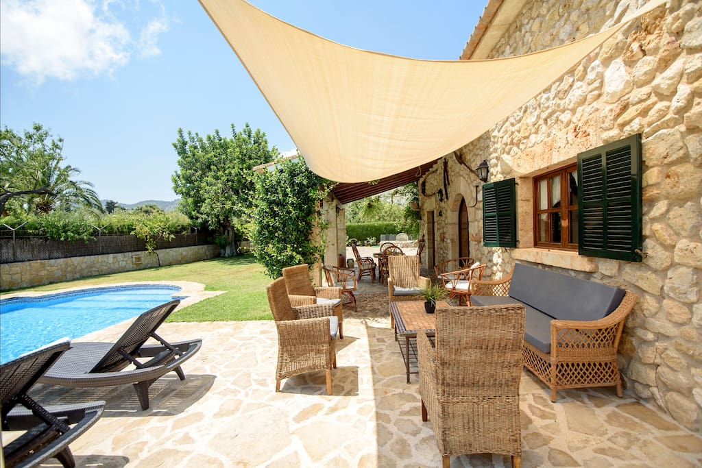 The Covered Poolside Terrace