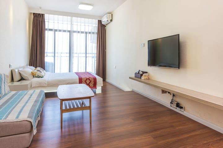 珠海*全新*市中心精品度假公寓,舒适享受等您来体验!@香洲总站@茂业百货 - Zhuhai - Lyxvåning