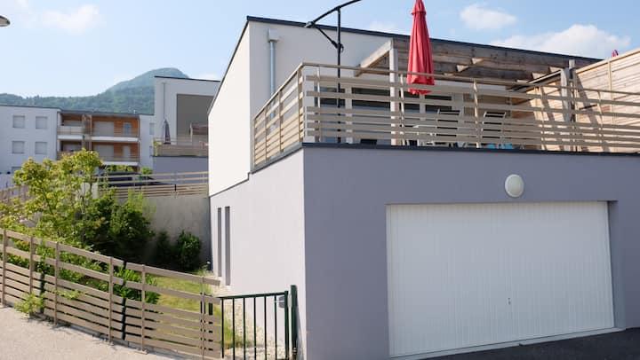 New House near Geneva, Divonne, Mont-Blanc View